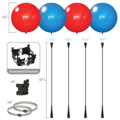 Dura 4 Pack Light Pole Kit Specs