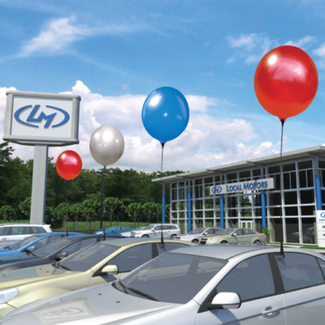 BalloonBobber Car Window Clip Kit Dealership