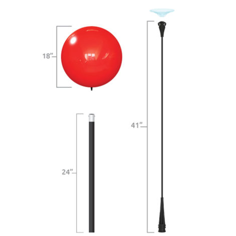 Dura Deluxe Short Pole Kit Specs