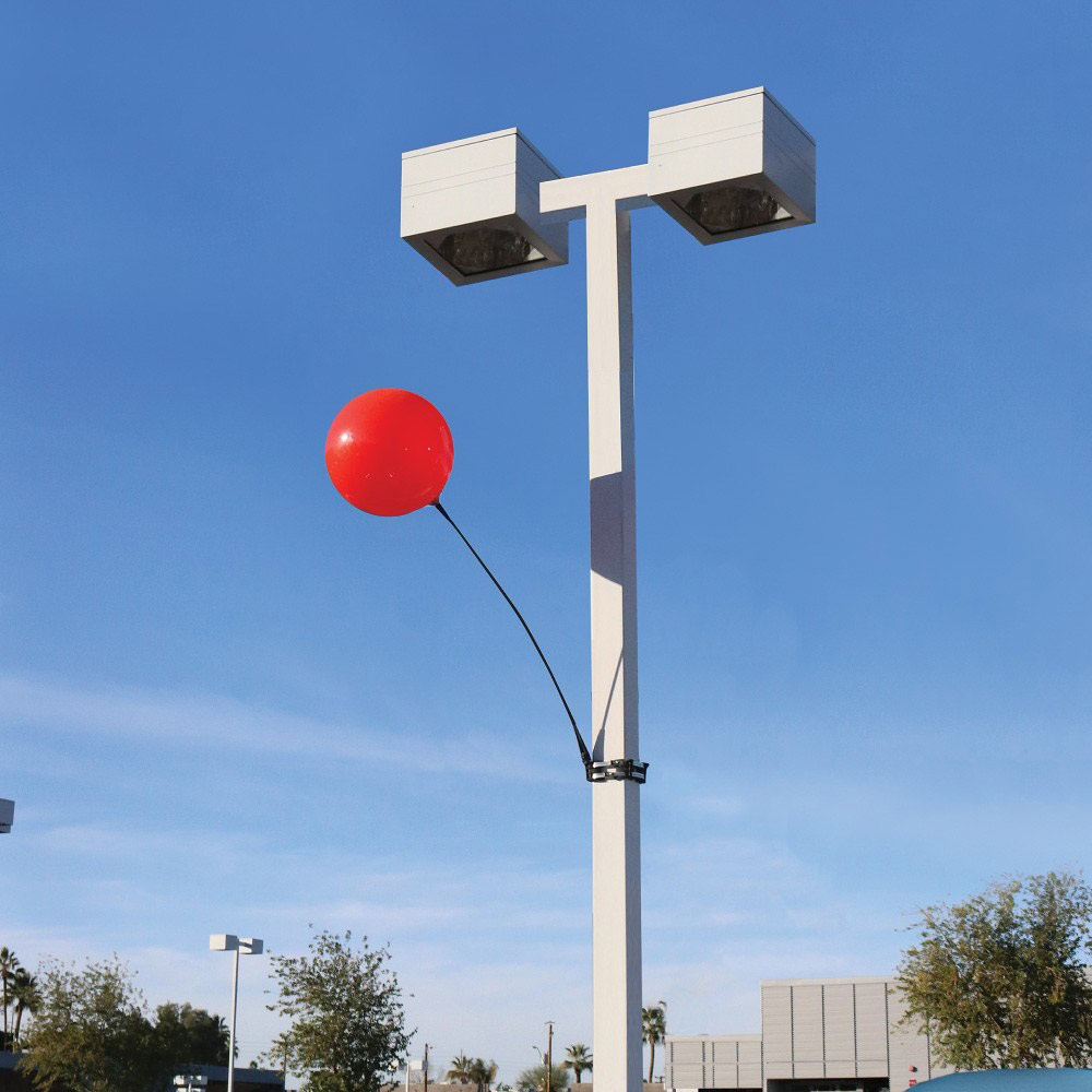 Dura Balloons on Light Pole
