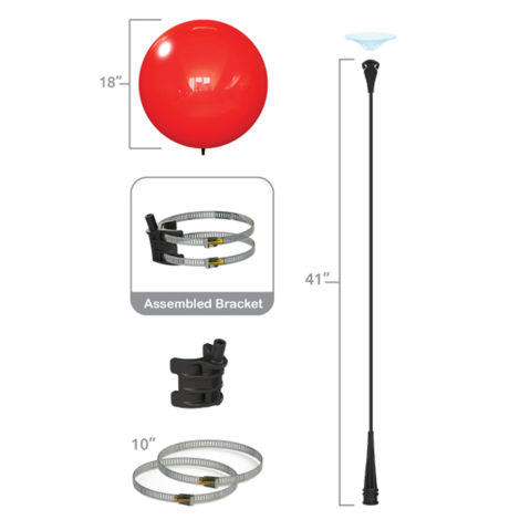 Dura Light Pole Single Kit Specs