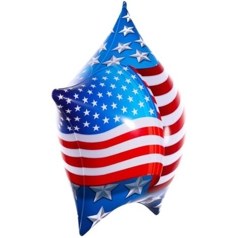 PermaShine American Flag Star Balloon Side 1