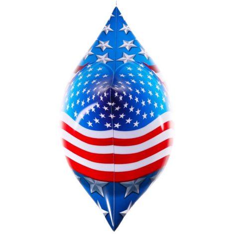 PermaShine American Flag Star Balloon Side View