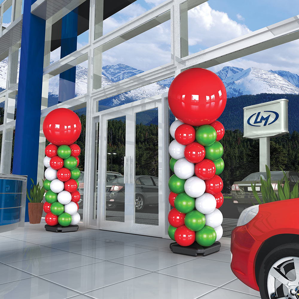 PermaShine Balloon Tower at Dealership