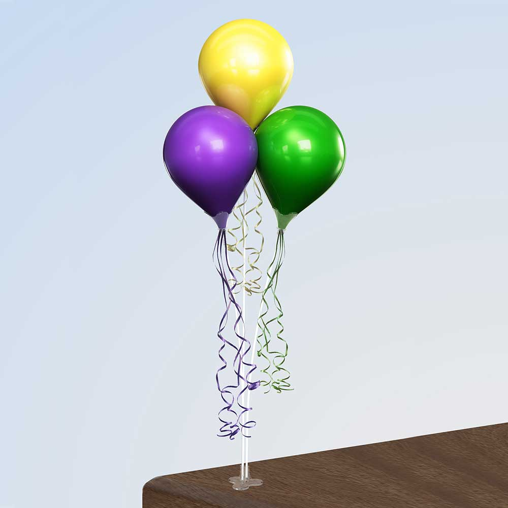 PermaShine Triple Table Top Balloon Display
