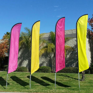 Multi-Color Feather Flags for Curb Appeal