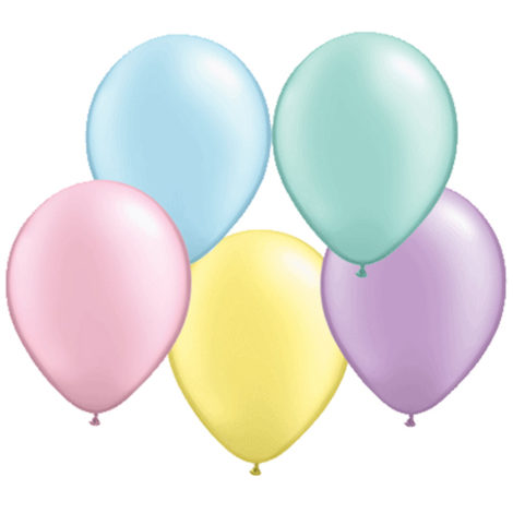 Helium Balloon Pastel Pearl Collection
