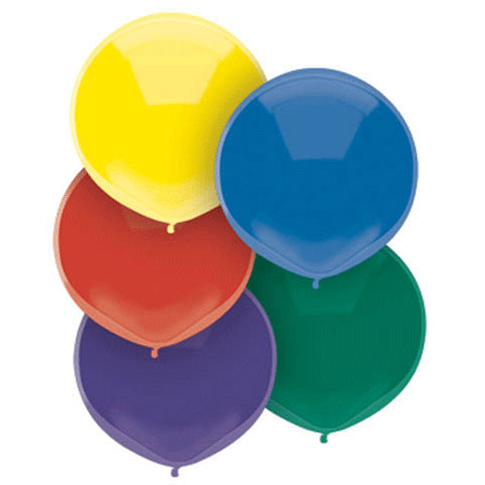 Multicolor Helium Balloon Pack