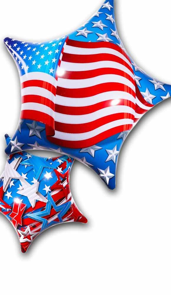 American Patriotic Permashine Balloons