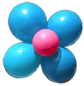 Balloons On a Stick Flower