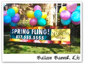 Balloon Banner Kit