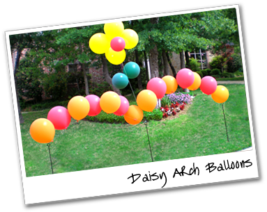 Daisy Arch Balloons